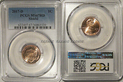 2017 D Lincoln SHIELD Cent 1c PCGS MS67RD  SPOTLESS