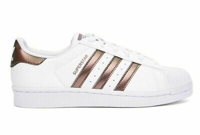 ADIDAS SUPERSTAR WHITE And Rose Gold Shoes Women's Size 7