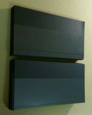100 x Black Stock Cards Stockcards Approx. 21.5x11.4cm From Presentation Packs