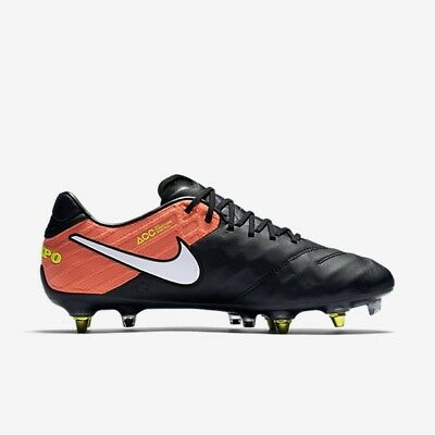 san francisco 413b5 91a5b Nike Tiempo Legend VI SG-PRO Anti Clog Traction Soccer Sz 8 Black 869483-