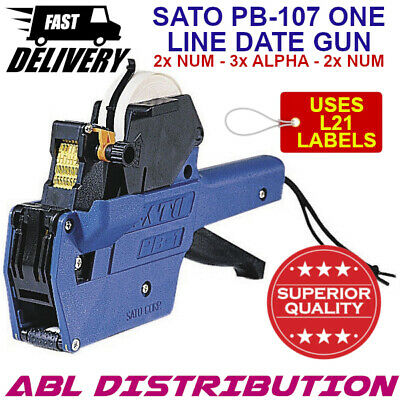 Superior Quality SATO PB107 One Line Date Gun 2x Number 3x Alpha 2x Number