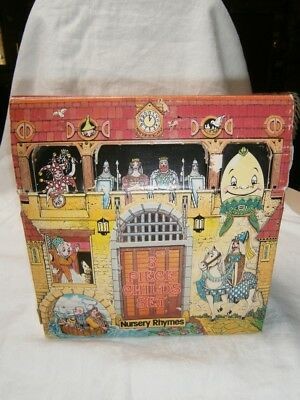 Vintage China 3 Pc Childs Nursery Rhymes Set In Original Castle Cut Out Box.