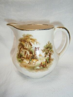 Vintage Collectable Alfred Meakin Jug With English Farm Scene
