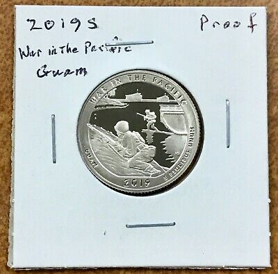 2019-S Clad Proof  Guam  War In The Pacific  Quarter
