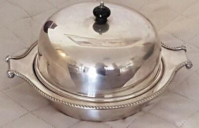 Vintage Hardy Bros Silver Plated Serving Dish With Lid & Domed Lid Bakelite Knob