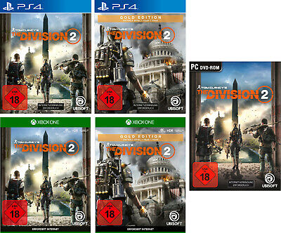 The Division 2 + Bonus Code | Standard & Gold Edition | NEU & OVP | PS4 PC XBox