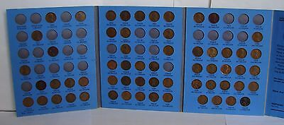 1909 - 1940  LINCOLN HEAD CENT COIN SET OF COPPER PENNIES - 59 COINS k4