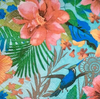 3 Paper Napkins for Decoupage/Parties/Weddings - Tropical paradise