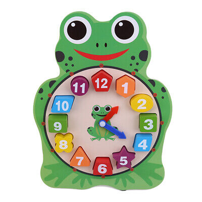 Cartoon Animal Clock Digital Puzzle Toy 12 Numbers Match Child Educational ToyBS