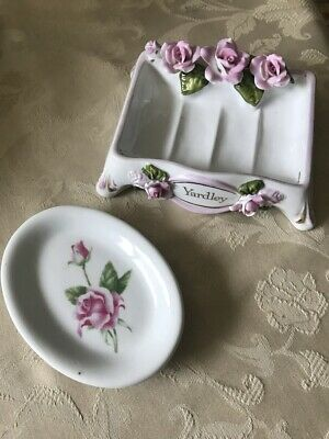 YARDLEY of London English Rose Soap Dish Vintage collectable AS IS