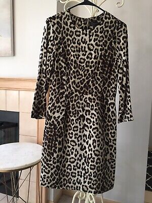7228e9549c509 BURBERRY LONDON Lace And Leopard-print Panelled Silk Dress