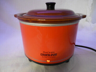Vintage Retro 1980s Japan Monier small Crock Pot Slow Cooker - 3200