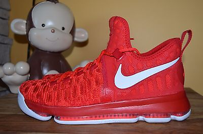 separation shoes dbc70 492f2 NEW NIKE ZOOM KD 9 Rockets Kevin Durant 10 11 11.5 Univ Red White 843392