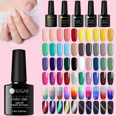 UR SUGAR 7.5ml Nail UV Gel Polish Soak off Nail Art UV LED Gel Varnish Colorful