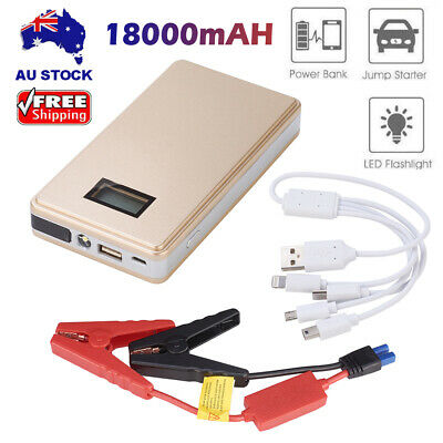 18000mAh Vehicle Car Jump Starter Booster Battery Power Bank Charger Portable