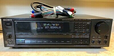 Vintage Sony STR-AV720 AM/FM Stereo Receiver-110W/Channel-Time Correction