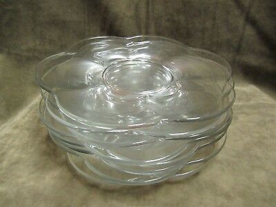 1950's Duncan and Miller Clear Glass Canterbury Pattern Luncheon size Plate Lot