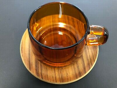 KINTO SEPIA Cup & Saucer 270ml Amber 21742 from JAPAN