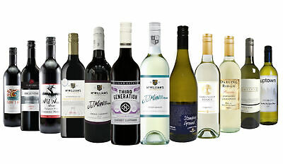5 Star Winery Easy Drinkers Red & White Mixed 12x750ml RRP$199 Free Shipping