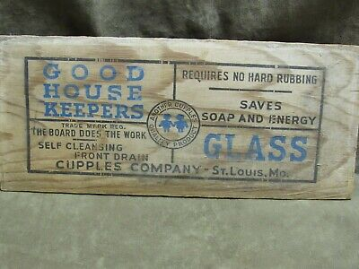 Vintage 1940's Glass Washboard Top Board Part Only Advertising item  AS IS
