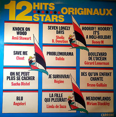 Various Artists Lp Record 12 Hits 12 Stars Made In France 1979 Rare