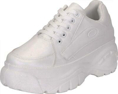 3556038d84968 CAMBRIDGE SELECT WOMEN'S Retro 90s Ugly Dad Rave Lace-Up Chunky High  Platform...