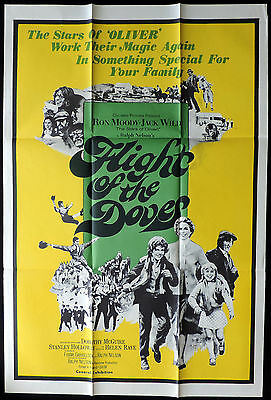 FLIGHT OF THE DOVES Ron Moody VINTAGE One Sheet Movie poster