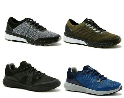 6cca8cfff12 Avia Men s Black or Blue Lace-Up Runner Athletic Running Sneakers Shoes  ...