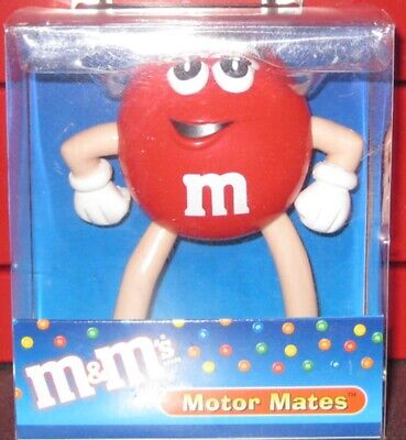 M & M's MOTOR MATES WITH DASHBOARD STAND ( RED )*BRAND NEW *