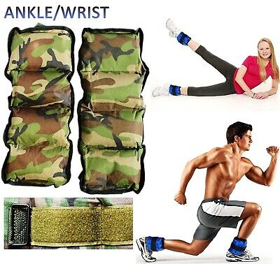 Kemket Ankle Wrist Resistance Strength Weights Running Exercise Velcro Straps