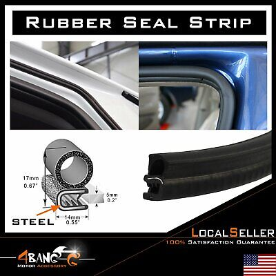 Rubber Seal Edge Lok Trim Strip Door Trunk Protector Car Truck Weatherstrip 144""