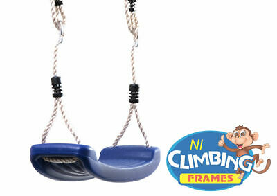 Children's Replacement BLUE Swing Seat Height Adjustable Rope Climbing Frame