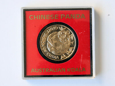 'GOLD' COIN — GIANT PANDA OF CHINA / AUSTRALIAN KOALA —hard case— FREE POSTAGE!