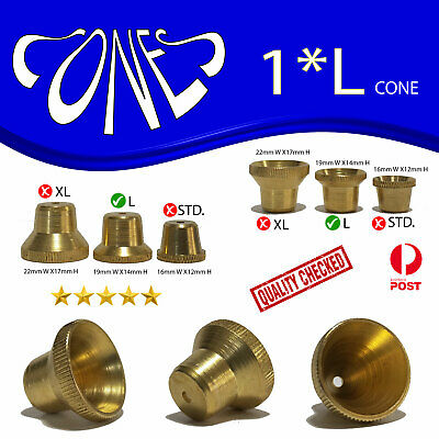 LARGE Cone Pieces  - Brass cone Piece - metal smoking pipe bong water pipe