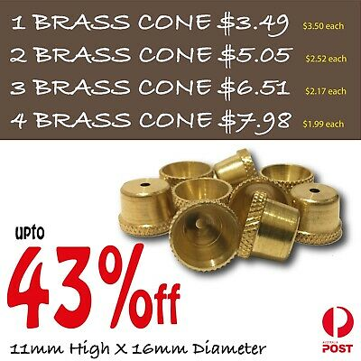 Bonza Cone Pieces X 10 - Brass cones Pieces - metal smoking pipe bong cones