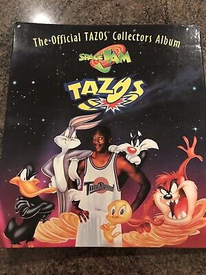 Lays Space Jam Offical Album With Complete Set Of 80 Tazos (1996)