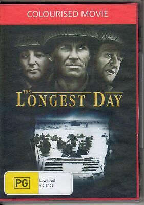 The Longest Day - Colourised Movie Robert Mitchum, Henry Fonda New Region 2 DVD