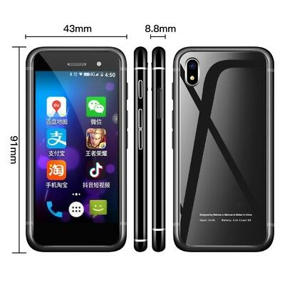 "Unlocked Melrose S9 Plus Smallest 2.45"" 4G GSM Smartphone Mini Android Phone"
