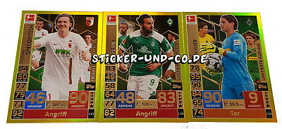 Topps Match Attax Extra 2018/2019 Limitierte Auflage Set LE 33-35