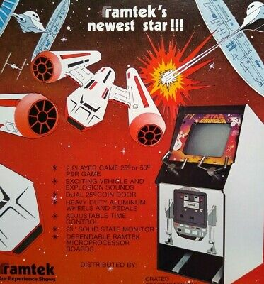 Ramtek 1977 STAR CRUISER Original Video Arcade Game Promo Flyer Space Age Art