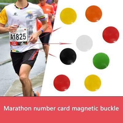 Magnetic Run Bib Race Number Clips Holders Magnets Sport 20 Running Cycling W3N6