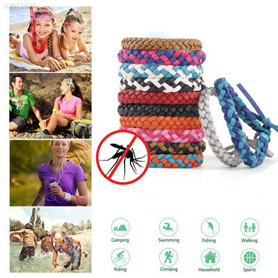 6FEA Repellent Bracelet Pest Weave PU Leather Insect Repellent Bands Home