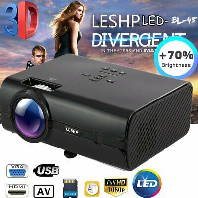 LCD Mini Projector LESHP 7000 Lumens Video Projector Portable Home Theater 1080P