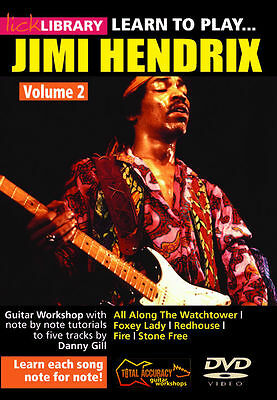 Lick Library LEARN TO PLAY JIMI HENDRIX Blues Guitar Lessons Video DVD Volume 2