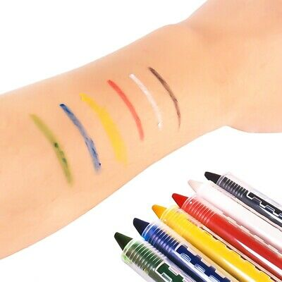 6x Body Face Painting Crayon Kit Set Sticks Kids Boy Girls Party DIY Fun New