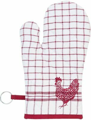 COUNTRY SIDE CHICKEN Ofenhandschuh 16x30 cm in rot
