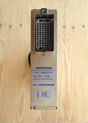 Siemens RWN 224P Traveling Wave Tube TWT Power Supply
