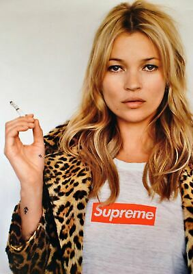 KATE MOSS SUPREME Poster Fashion Icon High Quality Art Print Wallpaper