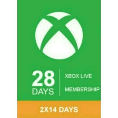 Xbox live gold 1 month (2x 14 day gold trial keys) WORLDWIDE