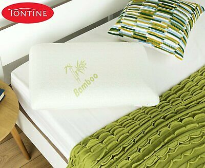 Memory Foam Pillow With Bamboo Cover Medium Feel Height Soft Viscose Moulds New